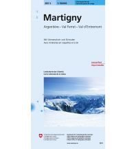 Skitourenkarten Landeskarte der Schweiz 282-S (Skitourenkarte), Martigny 1:50.000 Bundesamt für Landestopographie