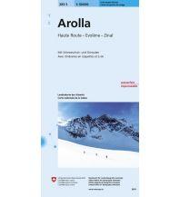 Skitourenkarten Landeskarte der Schweiz 283-S (Skitourenkarte), Arolla 1:50.000 Bundesamt für Landestopographie
