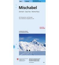 Skitourenkarten Landeskarte der Schweiz 284-S (Skitourenkarte), Mischabel 1:50.000 Bundesamt für Landestopographie
