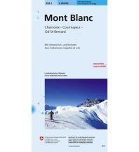 Skitourenkarten Landeskarte der Schweiz 292-S (Skitourenkarte), Mont Blanc 1:50.000 Bundesamt für Landestopographie