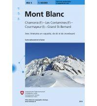 Skitourenkarten Landeskarte der Schweiz 492-S (Skitourenkarte), Mont Blanc 1:50.000 Bundesamt für Landestopographie