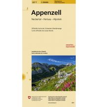 Wanderkarten Nordostschweiz 227T Appenzell Wanderkarte 1:50.000 Bundesamt für Landestopographie