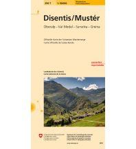Wanderkarten Schweiz & FL Disentis. Mustér Bundesamt für Landestopographie