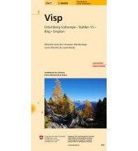 Wanderkarten Schweiz & FL 274T Visp Wanderkarte Bundesamt für Landestopographie