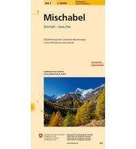 Wanderkarten Schweiz & FL Landeskarte der Schweiz 284T, Mischabel 1:50.000 Bundesamt für Landestopographie