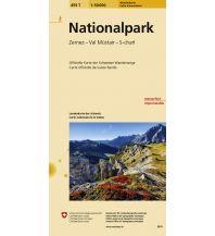 Wanderkarten Südtirol & Dolomiten Landeskarte der Schweiz 459 T, Nationalpark 1:50.000 Bundesamt für Landestopographie
