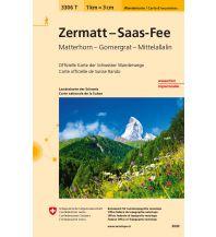 Wanderkarten Schweiz & FL Wanderkarte 3306T, Zermatt, Saas-Fee 1:33.333 Bundesamt für Landestopographie