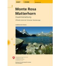 Wanderkarten Schweiz & FL Monte Rosa, Matterhorn Bundesamt für Landestopographie