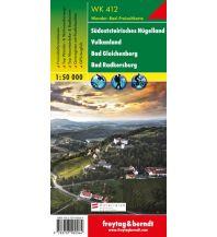 f&b Wanderkarten WK 412 Südsteirisches Hügelland - Vulkanland - Bad Gleichenberg - Bad Radkersburg, Wanderkarte 1:50.000 Freytag-Berndt und ARTARIA
