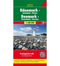 f&b Straßenkarten Dänemark - Grönland - Färöer, Autokarte 1:400.000 Freytag-Berndt und ARTARIA