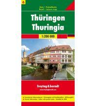 f&b Straßenkarten f&b Auto + Freizeitkarte 6, Thüringen 1:200.000 Freytag-Berndt und ARTARIA