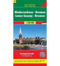 f&b Straßenkarten f&b Auto + Freizeitkarte 9, Niedersachsen - Bremen 1:200.000 Freytag-Berndt und ARTARIA
