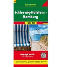 f&b Straßenkarten f&b Auto + Freizeitkarte 12, Schleswig-Holstein - Hamburg 1:200.000 Freytag-Berndt und ARTARIA