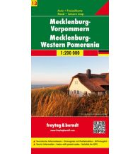 f&b Straßenkarten f&b Auto + Freizeitkarte 13, Mecklenburg-Vorpommern 1:200.000 Freytag-Berndt und ARTARIA