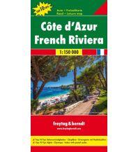 f&b Straßenkarten freytag &  berndt Auto + Freizeitkarte Frankreich, Côte d'Azur 1:150.000 Freytag-Berndt und ARTARIA