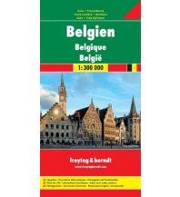 f&b Straßenkarten Belgien, Autokarte 1:300.000 Freytag-Berndt und ARTARIA