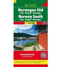 f&b Straßenkarten freytag & berndt Auto + Freizetkarte Norwegen 1, Süd, Oslo - Bergen - Stavanger 1:250.000 Freytag-Berndt und ARTARIA