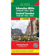 f&b Straßenkarten freytag & berndt Auto + Freizeitkarte Schweden 4, Mitte, Sundsvall - Falun - Gävle 1:250.000 Freytag-Berndt und ARTARIA