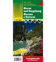 f&b Wanderkarten WK S511 Meran und Umgebung, Wanderkarte 1:25.000 Freytag-Berndt und ARTARIA