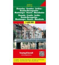 f&b Straßenkarten freytag & berndt Auto + Freizeitkarte, Slowenien - Kroatien - Serbien - Bosnien Herzegowina - Montenegro - Mazedonien 1:600.000 Freytag-Berndt und ARTARIA