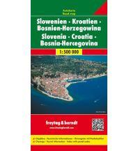 f&b Straßenkarten freytag & berndt Auto + Freizeitkarte, Slowenien - Kroatien - Bosnien Herzegowina 1:500.000 Freytag-Berndt und ARTARIA
