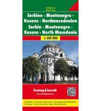 f&b Straßenkarten freytag & berndt Auto + Freizeitkarte, Serbien - Montenegro - Mazedonien 1:500.000 Freytag-Berndt und ARTARIA