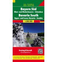 f&b Straßenkarten f&b Auto + Freizeitkarte 1, Bayern Süd - Ober- und Niederbayern - Schwaben 1:200.000 Freytag-Berndt und ARTARIA