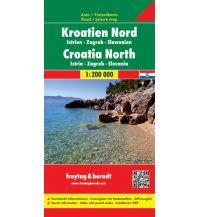 f&b Straßenkarten freytag & berndt Auto + Freizeitkarte, Kroatien Nord, Istrien - Zagreb - Slawonien 1:200.000 Freytag-Berndt und ARTARIA