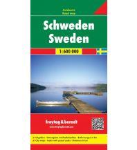 f&b Straßenkarten freytag & berndt Auto + Freizeitkarte Schweden 1:600.000 Freytag-Berndt und ARTARIA