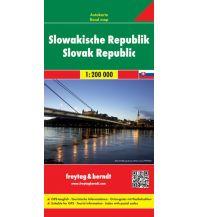 f&b Straßenkarten Slowakische Republik, Autokarte 1:200.000 Freytag-Berndt und ARTARIA