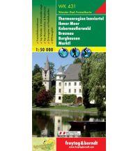 f&b Wanderkarten WK 431 Thermenregion Innviertel - Ibmer Moor - Kobernaußerwald - Braunau - Burghausen - Marktl, Wanderkarte 1:50.000 Freytag-Berndt und ARTARIA