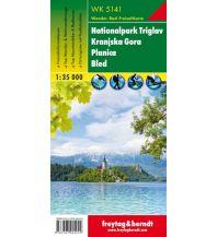 f&b Wanderkarten WK 5141 Nationalpark Triglav - Kranjska Gora - Planica - Bled, Wanderkarte 1:35.000 Freytag-Berndt und ARTARIA