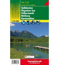 f&b Wanderkarten WK 238 Südkärnten, Klopeiner See, Völkermarkt, Bleiburg, Karawanken, Wanderkarte 1:50.000 Freytag-Berndt und ARTARIA