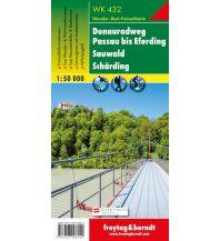 f&b Wanderkarten WK 432 Donauradweg Passau - Eferding - Sauwald - Schärding, Wanderkarte 1:50.000 Freytag-Berndt und ARTARIA