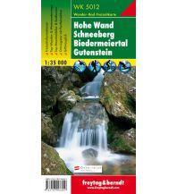 f&b Wanderkarten WK 5012 Hohe Wand - Schneeberg - Biedermeiertal - Gutenstein, Wanderkarte 1:35.000 Freytag-Berndt und ARTARIA
