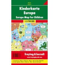 f&b Poster und Wandkarten Wandkarte: Kinderkarte Europa 1:3.700.000 Poster Freytag-Berndt u. Artaria KG Planokarten