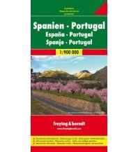 f&b Straßenkarten freytag & berndt Auto + Freizeitkarte Spanien - Portugal 1:900.000 Freytag-Berndt und ARTARIA