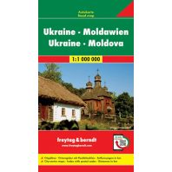 f&b Straßenkarten Ukraine - Moldawien, Autokarte 1:1 Mio. Freytag-Berndt und ARTARIA