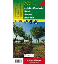 f&b Wanderkarten WK 014 Östliches Weinviertel - March - Thayatal - Mistelbach, Wanderkarte 1:50.000 Freytag-Berndt und ARTARIA