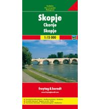 f&b Stadtpläne Skopje, Stadtplan 1:15.000 Freytag-Berndt und ARTARIA