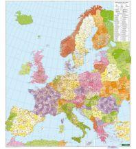 Europa Wandkarte: Europa Postleitzahlen, Magnetmarkiertafel Freytag-Berndt u. Artaria KG