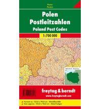Europa Wandkarte: Polen Postleitzahlen, 1:700.000, Poster, metallbestäbt Freytag-Berndt u. Artaria KG Planokarten