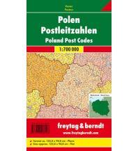 Europa Wandkarte: Polen Postleitzahlen Freytag-Berndt u. Artaria KG Planokarten
