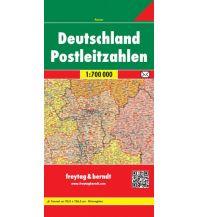 f&b Straßenkarten freytag & berndt Postleitzahlenkarte Deutschland gefaltet 1:700.000 Freytag-Berndt und ARTARIA