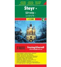 f&b Stadtpläne Steyr Touristenplan 1:12.000 Freytag-Berndt und ARTARIA