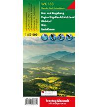 f&b Wanderkarten WK 133 Graz und Umgebung - Region Hügelland-Schöcklland - Gleisdorf - Weiz - Raabklamm, Wanderkarte 1:50.000 Freytag-Berndt und ARTARIA