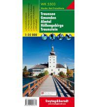 f&b Wanderkarten WK 5503 Traunsee - Gmunden - Almtal - Höllengebirge - Traunstein, Wanderkarte 1:35.000 Freytag-Berndt und ARTARIA