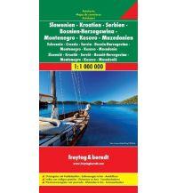 f&b Straßenkarten freytag & berndt Auto + Feizeitkarte, Slowenien - Kroatien - Serbien - Bosnien Herzegowina - Montenegro - Mazedonien 1:1.000.000 Freytag-Berndt und ARTARIA