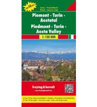 f&b Straßenkarten freytag & berndt Auto + Freizeitkarte Piemont - Turin - Aostatal 1:150.000 Freytag-Berndt und ARTARIA