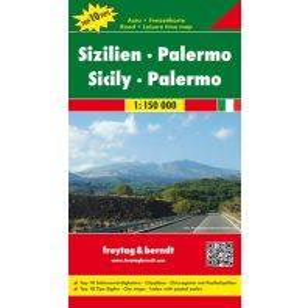 f&b Straßenkarten Sizilien - Palermo, Autokarte 1:150.000 Freytag-Berndt und ARTARIA